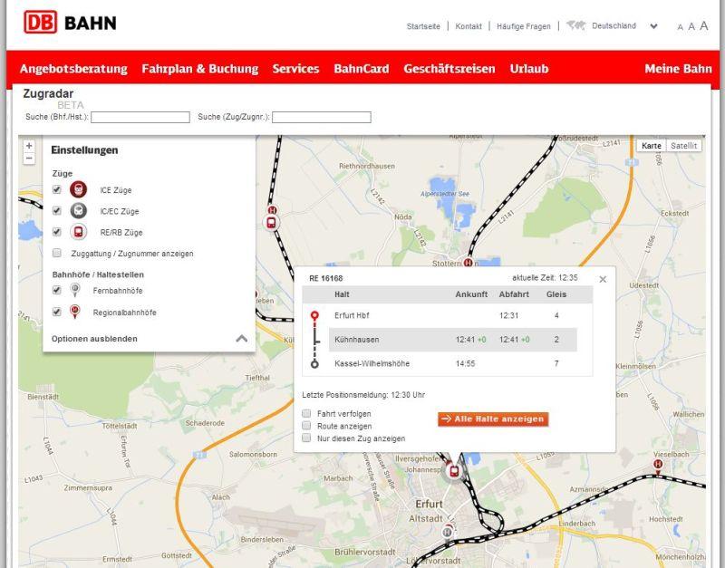 Db Fahrplan Karte.Deutsche Bahn Live Karte Von Zügen Bernds Rappelkiste