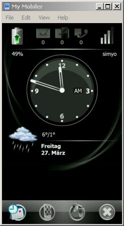 HTC Touch HD auf dem Desktop