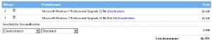 Windows 7-Bestellung